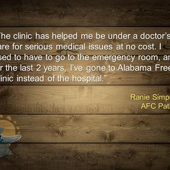 Ranie Simpson, Patient