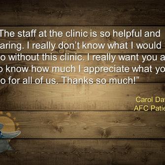 Carol Davis, Patient