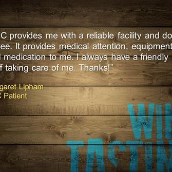 Margaret Lipham, Patient